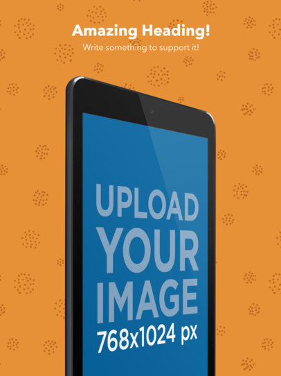 Cropped Angled Black iPad iOS Screenshot Maker in Portrait Position a16031