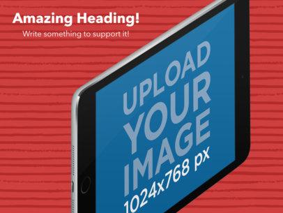 Landscape Angled Black iPad Appstore Screenshot Maker a16035