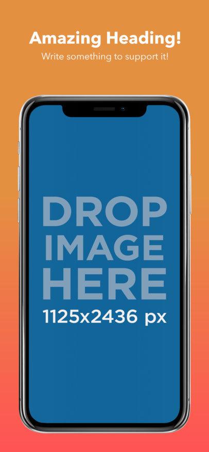 iPhone X iOS Screenshot Generator a17411