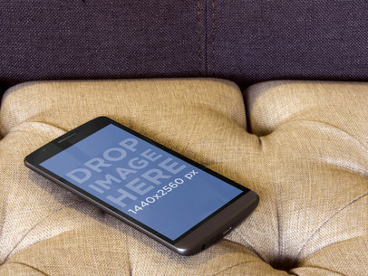 LG G3 at Fancy Upholstery Couch
