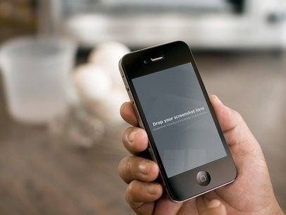 Black iPhone 4 Vertical Water Glass