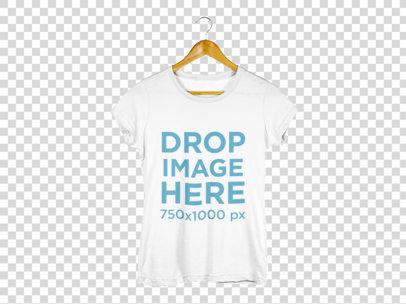 Women's T-Shirt on a Hanger T-Shirt Mockup a8173