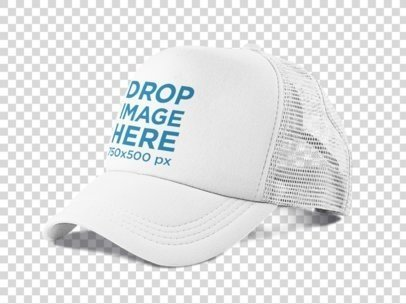 Side View of a Trucker Hat PNG Mockup 11708a