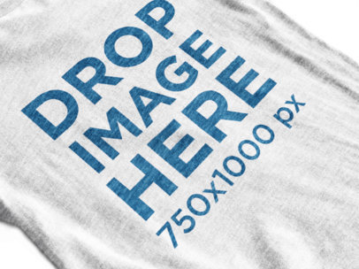 Heather T-Shirt Mockup in Close-Up View a12023