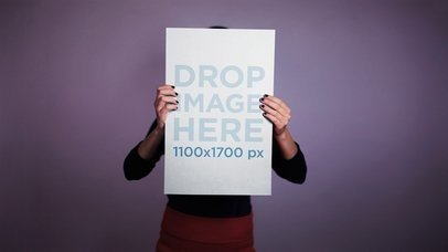 Stop Motion Of A Poster Held By Different People Mockup a13688