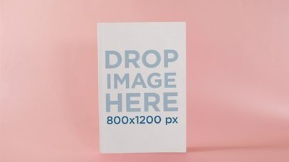 Mockup Of Book That Comes In And Out From Pink Environment Stop Motion a13673