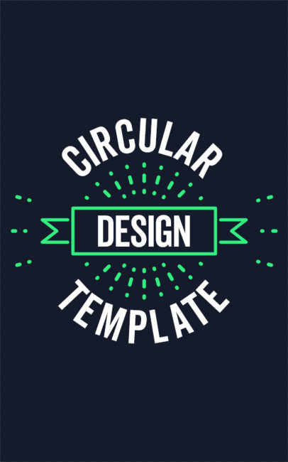 Circular T-Shirt Design Template 338