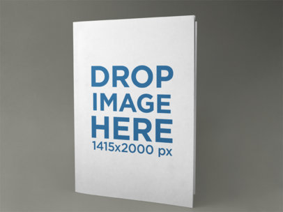 Big Booklet Template Standing on a Solid Surface a15093