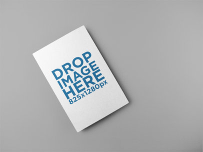 Mockup of a Flyer Lying on a Solid Surface a15089