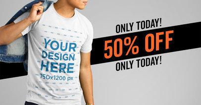 Facebook Ad Template with Special Offer For T-Shirt