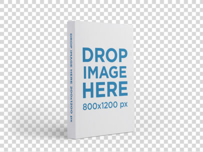 Angled Paperback Book Mockup Standing on a Transparent Surface a15657