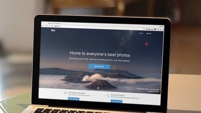 Macbook Pro at Coffee Shop