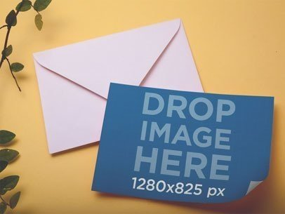 Stationery Mockup Template Featuring an Envelope a6527