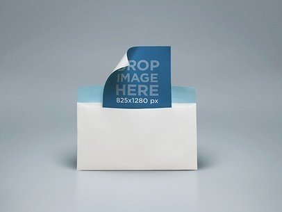 Envelope Mockup Featuring an Open Envelope With a Card a6546