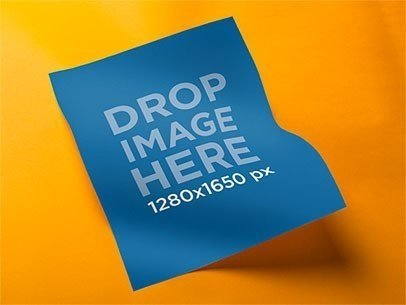 Flyer Mockup of a Letter Sheet With a Colored Backdrop a6213