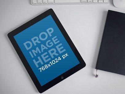 Black iPad White Desktop