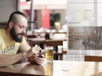 iPhone App Demo Video of a Man Having a Beer at a Bar a7769