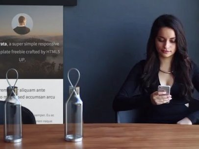iPhone App Demo Video of a Woman at a Meeting Room 8262a