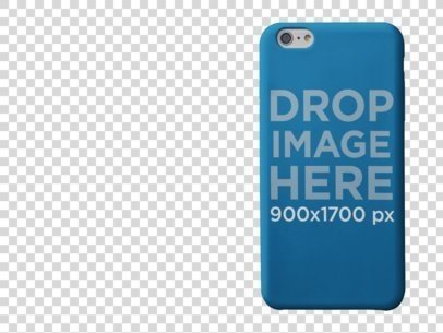 PNG Mockup of an iPhone 6 Case Standing a10289