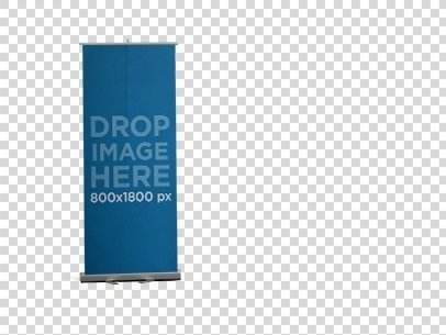 PNG Roll-Up Banner Mockup 11755