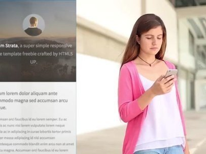 App Demo Video of a Girl on Her iPhone at School a9591