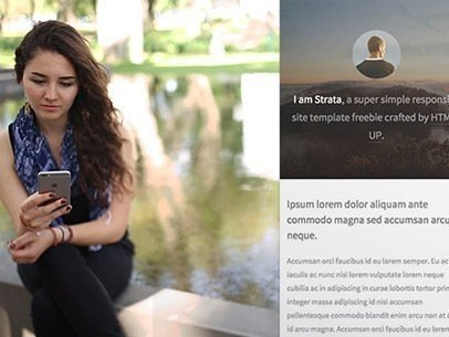 App Demo Video of a Girl Using Her iPhone by a Fountain 9216a