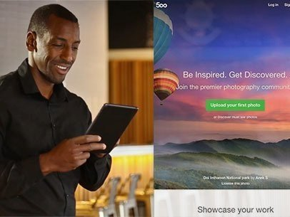 iPad App Demo Video of a Black Man at a Bar a9237