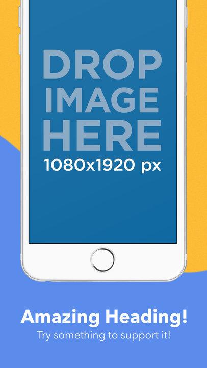 Portrait White iPhone 6 Plus Cut iOS Screenshot Builder