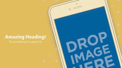 White Flat iPhone 6s Diagonal App Store Screenshot Builder