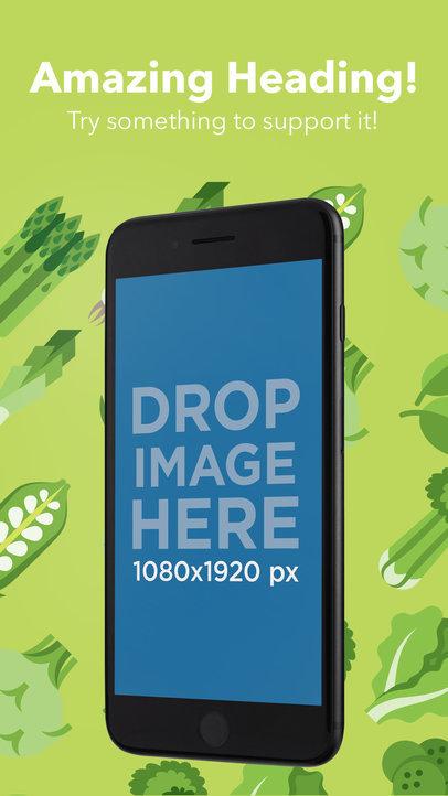 Black Angled iPhone In Portrait Position Appstore Screenshot Generator