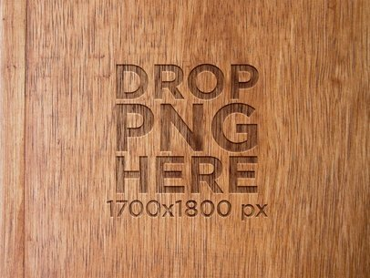 Template of a Logo on a Wooden Texture a6262