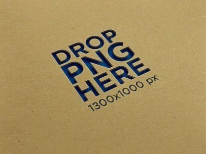 Angled Logo on a Cardboard Texture Template a14880